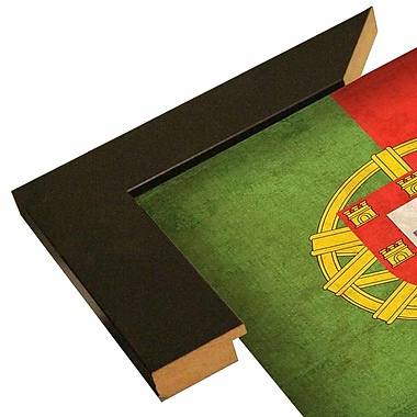 East Urban Home 'Portugal' Graphic Art Print; Wrapped Canvas Floater Framed