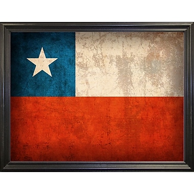 East Urban Home 'Chile' Graphic Art Print; Wrapped Canvas Floater Framed