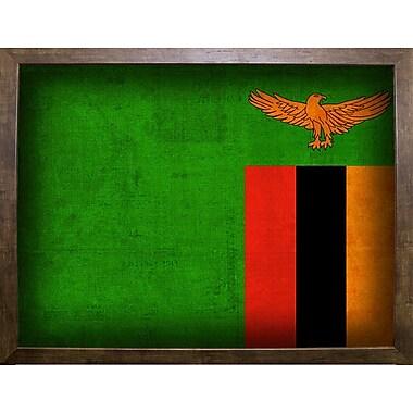 East Urban Home 'Zambia' Graphic Art Print; Cafe Mocha Framed