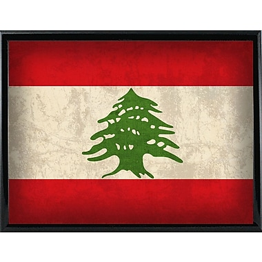 East Urban Home 'Lebanon' Graphic Art Print; Metal Black Framed