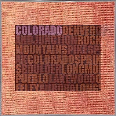 East Urban Home 'Colorado State Words' Graphic Art Print; Metal White Framed
