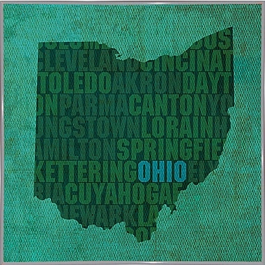 East Urban Home 'Ohio State Words' Graphic Art Print; Metal White Framed