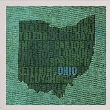 East Urban Home 'Ohio State Words' Graphic Art Print; White Medium Framed