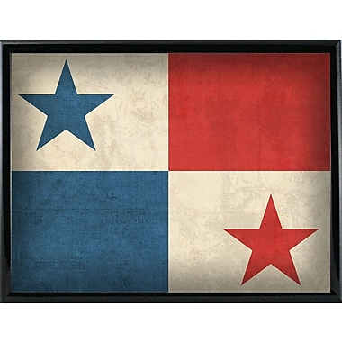East Urban Home 'Panama' Graphic Art Print; Metal Black Framed