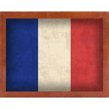 East Urban Home 'France' Graphic Art Print; Wrapped Canvas Floater Framed