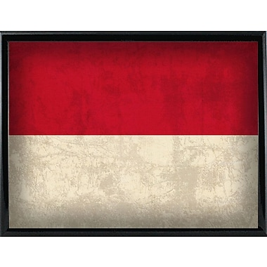 East Urban Home 'Indonesia' Graphic Art Print; Metal Black Framed