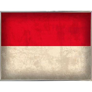 East Urban Home 'Indonesia' Graphic Art Print; Metal Silver Framed