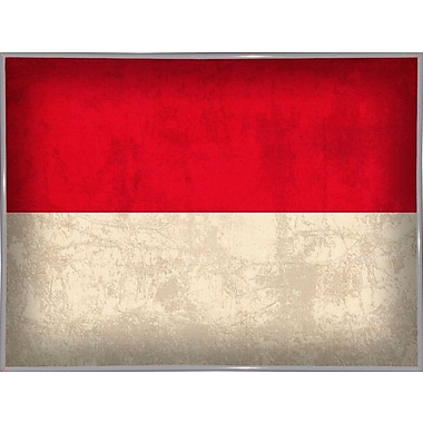 East Urban Home 'Indonesia' Graphic Art Print; Metal White Framed