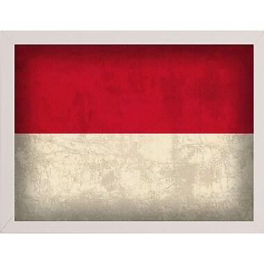 East Urban Home 'Indonesia' Graphic Art Print; White Medium Framed