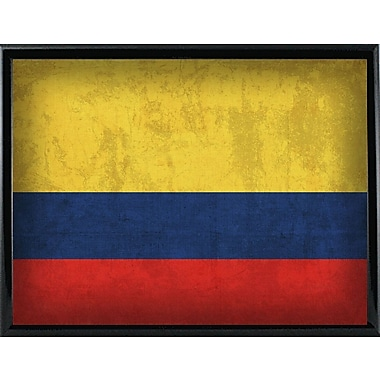 East Urban Home 'Colombia' Graphic Art Print; Metal Black Framed
