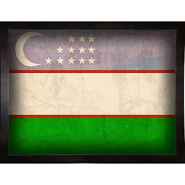 East Urban Home 'Uzbekistan' Graphic Art Print; Black Medium Framed