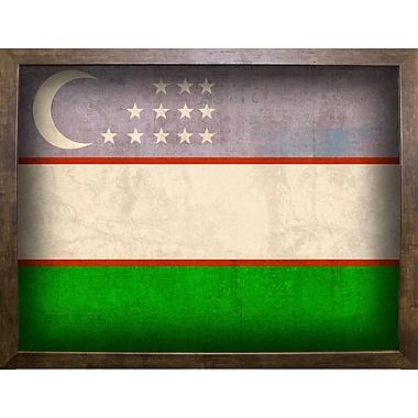 East Urban Home 'Uzbekistan' Graphic Art Print; Cafe Mocha Framed