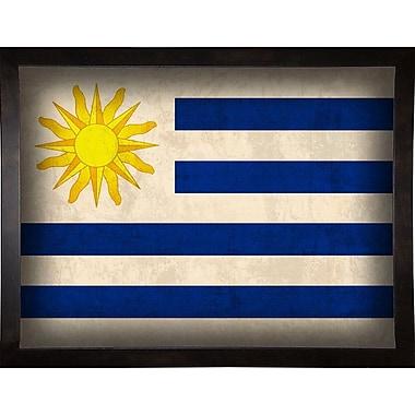 East Urban Home 'Uruguay' Graphic Art Print; Cafe Espresso Framed