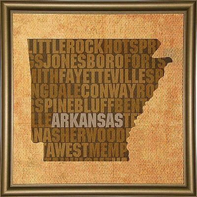 East Urban Home 'Arkansas State Words' Graphic Art Print; Paper