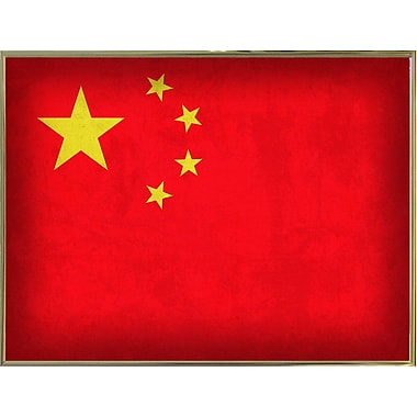 East Urban Home 'China' Graphic Art Print; Metal Gold Framed
