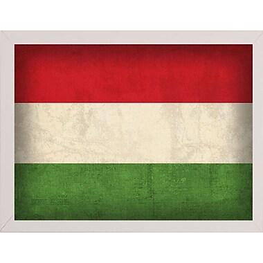 East Urban Home 'Hungary' Graphic Art Print; White Medium Framed