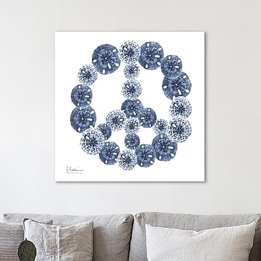 Highland Dunes 'Peace Sand Dollars' Graphic Art Print on Wrapped Canvas; 30'' H x 30'' W