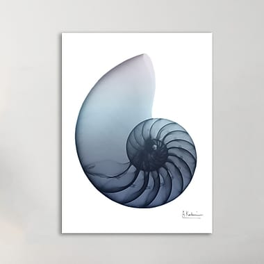 Highland Dunes 'Lavendar Snail 4' Graphic Art Print on Wrapped Canvas; 40'' H x 30'' W