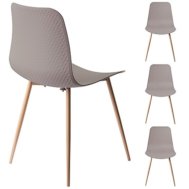 Ivy Bronx Ebbert Dining Chair (Set of 4); Stone