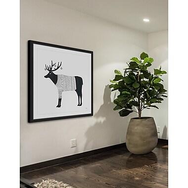 Ivy Bronx 'Cozy Deer' Framed Print; 12'' H x 12'' W x 1.5'' D