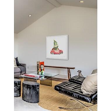 Ivy Bronx 'Christmas Tree Passenger' Framed Painting Print; 48'' W x 48'' H x 1.5'' D