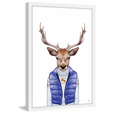 Ivy Bronx 'I Am Buck' Framed Painting Print; 24'' W x 36'' H x 1.5'' D