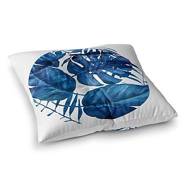 Kavka Leaf Square Floor Pillow; 23'' H x 23'' W x 9.5'' D