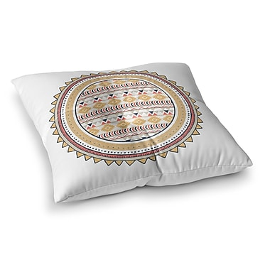 Kavka Tribal Square Floor Pillow; 26'' H x 26'' W x 12.5'' D
