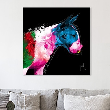 Latitude Run 'Bull Pop' Graphic Art Print on Wrapped Canvas; 24'' H x 24'' W