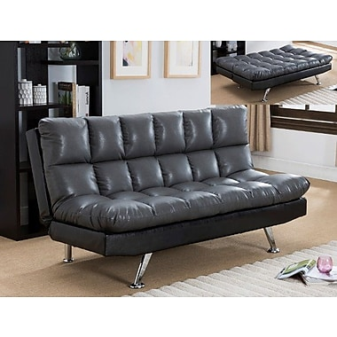 Crown Mark Sundown Convertible Sofa; Gray