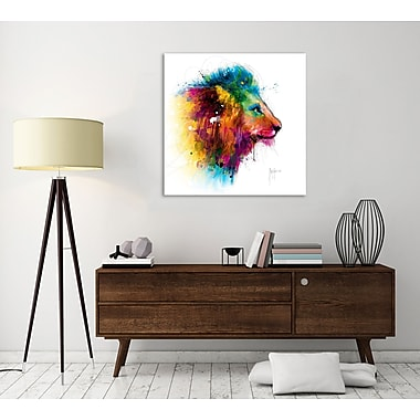 Latitude Run 'Jungle's King' Graphic Art Print on Wrapped Canvas; 30'' H x 30'' W