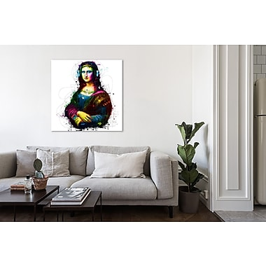 Latitude Run 'Mona Lisa's Song' Graphic Art Print on Wrapped Canvas; 24'' H x 24'' W