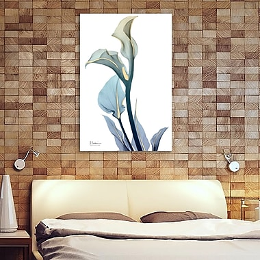 Latitude Run 'Gold Splash Calla Lilly' Graphic Art Print on Wrapped Canvas; 48'' H x 32'' W