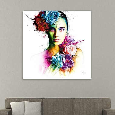 Latitude Run 'Ambre' Graphic Art Print on Wrapped Canvas; 36'' H x 36'' W