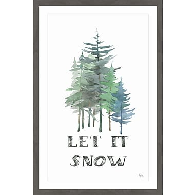 Latitude Run 'Let It Snow II' Framed Painting Print; 30'' x 20''