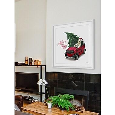 Latitude Run 'Happy Bear' Framed Painting Print; 18'' H x 18'' W