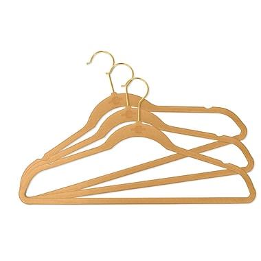 Rebrilliant Non-Silp Hanger (Set of 50); Camel/Gold