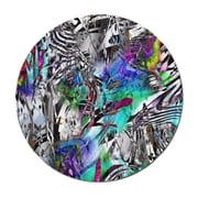 Serge De Troyer Collection 'Psychdelic' Graphic Art Print on Glass; 36'' H x 36'' W