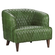 17 Stories Guage Armchair; Emerald