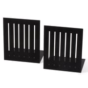 Symple Stuff Large Rectangle Bookends; Black