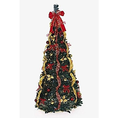 The Holiday Aisle Let it Snow Artificial Christmas Tree w/ 350 Lights; Red