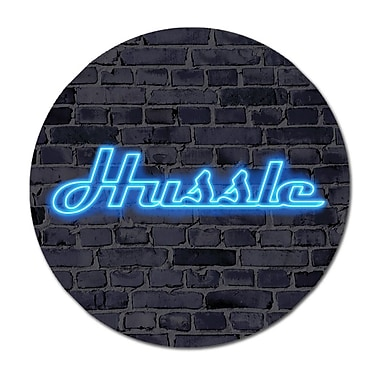 Serge De Troyer Collection 'Hussle' Textual Art on Glass; 36'' H x 36'' W