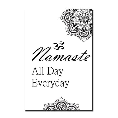 Serge De Troyer Collection 'Namaste All Day' Textual Art on Glass; 40'' H x 30'' W