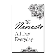 Serge De Troyer Collection 'Namaste All Day' Textual Art on Glass; 60'' H x 40'' W