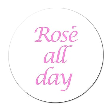 Serge De Troyer Collection 'Rose All Day' Textual Art on Glass; 24'' H x 24'' W