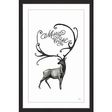 The Holiday Aisle 'Longhorn Deer' Framed Painting Print; 45'' x 30''