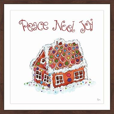 The Holiday Aisle 'Peace Noel Joy' Framed Painting Print; 32'' x 32''
