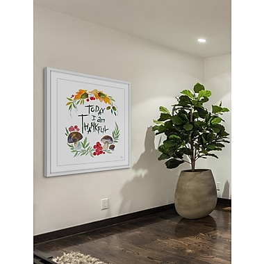 The Holiday Aisle 'Today I Give Thanks' Framed Painting Print; 40'' H x 40'' W