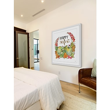 The Holiday Aisle 'Happy Harvest' Framed Painting Print; 24'' H x 24'' W