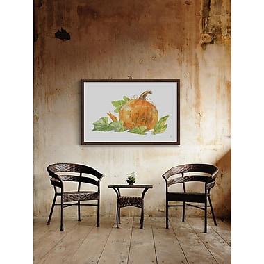 The Holiday Aisle 'Gorgeous Pumpkin' Framed Print; 24'' W x 36'' H x 1.5'' D